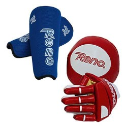SET OF RENO HOCKEY PLAYER GUARDS