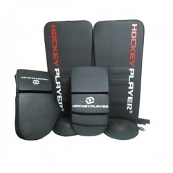 SET GUANTES Y GUARDAS PARA PORTERO HOCKEYPLAYER PLUMA