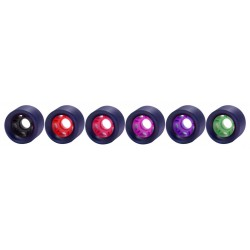 RUEDAS STD ROLLER DERBY GHOST 62X42 BLACK RED HUB 90 A (4-PACK)