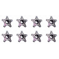 TUERCAS LIGERAS CON STRASS STD SKATES-SHINY NUTS-SUPER STAR DIAMOND